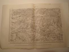CARTE ROCROI S.O. TYPE 1889 REVISEE EN 1897 - Topographical Maps