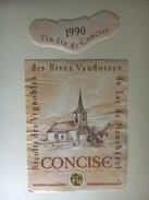 6366 - Concise Récolte Des Vignobles Des Rives Vaudoises Du Lac De Neuchâtel - Labels