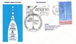 FDC 1979 / ARIANE / FLAMME CNES - FDC