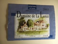 6367 - Concise Oeil De Perdix 2003 Domaine De La Lance Ancienne Chartreuse Suisse - Labels