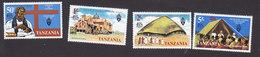 Tanzania, Scott #78-81, Mint Hinged, Church Of Uganda, Issued 1977 - Tanzania (1964-...)