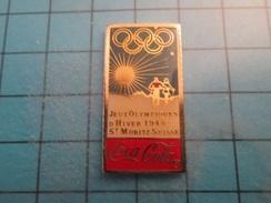 Pin510d Pin's Pins : BEAU ET RARE : COCA-COLA JEUX OLYMPIQUES D'HIVER ST MORITZ 1948   , Marquage Au Dos : ------- - Coca-Cola