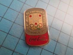 Pin510d Pin's Pins : BEAU ET RARE : COCA-COLA JEUX OLYMPIQUES D'HIVER GRENOBLE 1968  , Marquage Au Dos : ------- - Coca-Cola