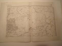 CARTE ROCROI TYPE 1889 REVISEE EN 1913 - Topographical Maps
