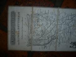 LE RHIN De Bâle à ROTTERDAM Sur Toile (191...) - Cartes Géographiques