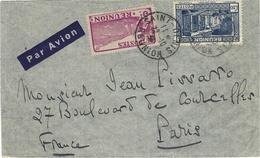 1936- Enveloppe  Par Avion De Saint-Denis Affr. à 4,50 F ( 3f + 1,50 F )  Pour Paris - Réunion (1852-1975)