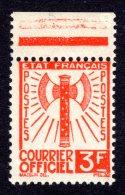 FRANCE - 1942 - SERVICE Yvert #10 - NEUF LUXE **/ MNH - Bdf, TB - Service