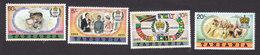 Tanzania, Scott #87-90, Mint Hinged, 25th Anniversary Of Elizabeth II Reign, Issued 1977 - Tanzania (1964-...)