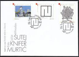 Croatia Zagreb 2005 / Croatian Modern Painting / Art / Sutej, Knifer, Murtic / FDC - Kroatien