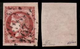 France N° 49c Rose Carminé Obl. GC 264 - 3 Très Grandes Marges - Signé JF Brun - LUXE - 1870 Bordeaux Printing