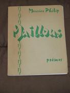 060 / LIVRE / MAILLONS - Poëmes De Maurice Philip - Exemplaire N° 614/1000 Et Signé - 1957 - 80 Pages - Libros, Revistas, Cómics
