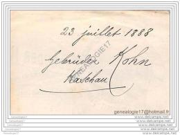 96 1247 SLOVAQUIE SLOWAKEI SLOVAKIA  KASCHAU Koet Scaron Ice  1888 Rosoglio Rum GEBRÂŽDER KOHN - JAMAIKA Essigsprit Fab - Autres
