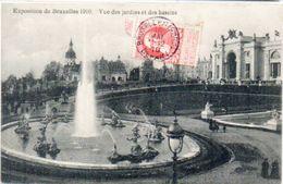 Exposition De BRUXELLES 1910 - Vue Des Jardins Et Des Bassins     (101387) - Universal Exhibitions
