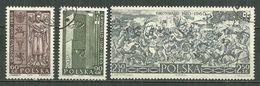 POLAND Oblitéré 1039-1041 Anniversaire De La Bataille De GRUNWALD Statue Roi JAGELLON Tableau De MATEJKO - Oblitérés