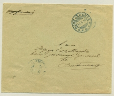 Nederlands Indië - 1916 - KB SOERABAJA-BANDOENG B Op Portvrije Brief Naar Goeverneur Generaal Te Buitenzorg - Nederlands-Indië