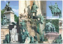 8670 Hungary Postcard Personality Art Sculpture Job Writer History Hunting Royalty King - Sculptures