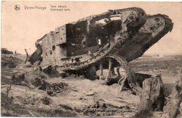 YPRES-HOOGE - Tank Détruit    (101393) - Bélgica