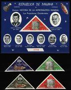 Panama, 1968, Space Exploration, Gold Overprint, 4 Stamps+ Block  S\s RRR! - Space