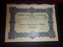 """PHUMY"" Sucrerie & Raffinerie De Cochinchine (1926) - Unclassified"