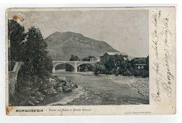 Cartolina Di Borgosesia - Ponte Sul Sesia E Monte Fenera - Valsesia - Vercellese - Vercelli
