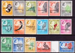 SWAZILAND 1968 SG 142//160 Part Set Used Missing Only 156 And 158 (159 And 160 Present) - Swaziland (1968-...)