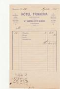 7505.   Hotel Trinachia Messina 1895 - Ricevuta - Italia
