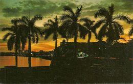 Republica De Panama, Panama, Avenida Balboa Puesta Del Sol, Balboa Avenue At Sunset - Panama