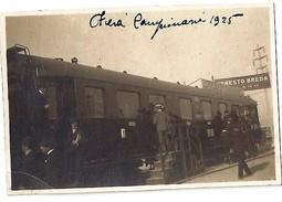 Treno Foto Fiera Campionaria Milano 1925 ERNESTO BREDA - Trains