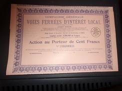 VOIES FERREES D INTERET LOCAL (1931) - Shareholdings