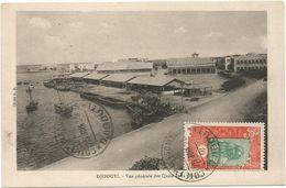 SOMALIS 10C AU RECTO CARTE DJIBOUTI VUE GENERALE DES QUAIS - Briefe U. Dokumente