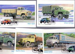 Lot De 5 Camions (Russie)     -  Carte Postale/Maxi Carte - Camions & Poids Lourds
