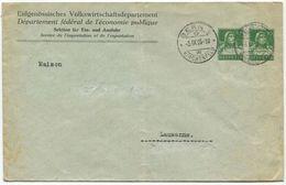 1728 - 10+10 Rp. Privatganzsachen-Briefumschlag Vom Eidgenössischen Volkswirtschaftsdepartement - Entiers Postaux