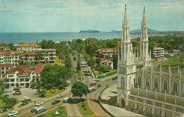 Republica De Panama, Panama, Federico Boyd Avenue, Bella Vista, And Via Espana With The Church Of The Carmelite Fathers - Panama