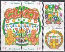 Neuseeland New Zealand 1993 Religionen Christentum Weihnachten Christmas, Mi. 1298-3 ** - Neuseeland
