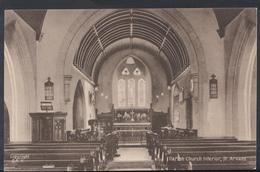 Wales Postcard - Parish Church Interior, St Arvans  DC1115 - Monmouthshire
