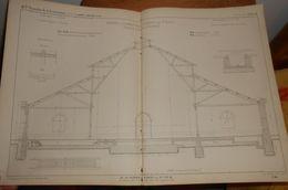 Plan De La Rotonde à Locomotives D'Epernay Pour 16 Machines. Chemin De Fer De Paris à Strasbourg. 1857. - Travaux Publics