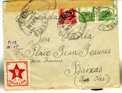 GUERRE CIVILE  VIGNETTE DE NOVELDA  Sur Lettre 9 DIC 36  Vers France EL 598 - Verschlussmarken Bürgerkrieg