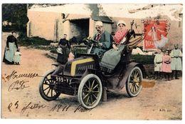 CPA  VOITURE AUTOMOBILE Vers 1911 Partie Supérieure Dégradée  Voir Scan  10944 - Passenger Cars