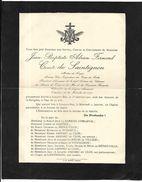 Faire - Parte Du Décès Du Comte De Saintignon  Maître De Forges  Pieusement Décédé  à; Longwy - Bas  Le 1er Janvier 1921 - Todesanzeige