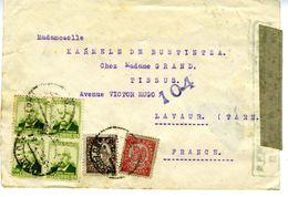 GUERRE CIVILE 1938  Lettre Du GOBIERNO DE EUZKADI  à BARCELONA   EL 601 - 1931-50 Cartas
