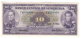 Venezuela 10 Bolivares 02/06/1964 AUNC - Venezuela