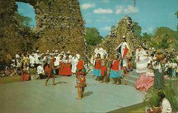 Republica De Panama, Una Presentacion Folklorica En El Escenario De Las Ruinas De Panama La Vieja, Folklore Presentation - Panama