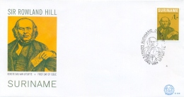 Surinam Suriname 1979 FDC Centenary Death Of Rowland Hill - Rowland Hill