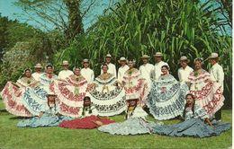 Republica De Panama, Un Conjunto Folklorico, A Group Of Folklore Entertainers, Wearing Colorful Polleras And Montunos - Panama