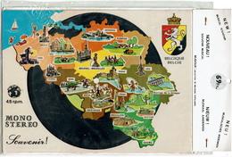 Carte Disque 45 Rpm, Souvenir Musical - Belgique - Provinces Belges - Dans Son Emballage D'origine - Voir Scan - Souvenir De...