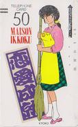 Télécarte Ancienne Japon / 110-4267 - MANGA - MAISON IKKOKU- ANIME Japan Front Bar Phonecard - 9923 - Comics