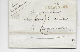 LAC--   La Cadière  ( 83 )  à  Roquevaire ( 13 )  --  M.P. Type 5 ; Le Bausset  78 --   1819  -- B.E. - 1801-1848: Précurseurs XIX