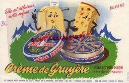 74- SAINT FELIX-BUVARD FROMAGE-CREME DE GRUYERE- MERE PICON-BEURRE FIN-FROMAGERIE-FROMAGERIES -CONCOURS PARIS 1952 - Buvards, Protège-cahiers Illustrés