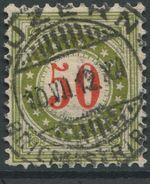 1733 - 50 Rp. Portomarke Wasserzeichenpapier Mit Sauberem Vollstempel LUZERN 10.VII.12 - Taxe