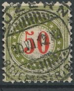 1733 - 50 Rp. Portomarke Wasserzeichenpapier Mit Sauberem Vollstempel LUZERN 10.VII.12 - Portomarken